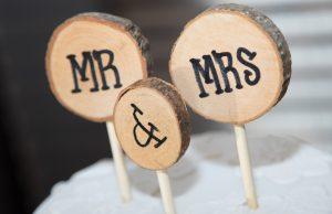 décoration mariage bois