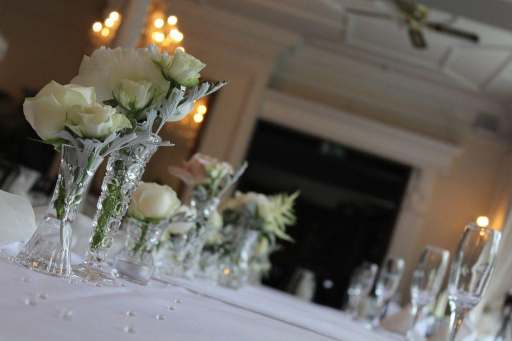 Table de repas de mariage